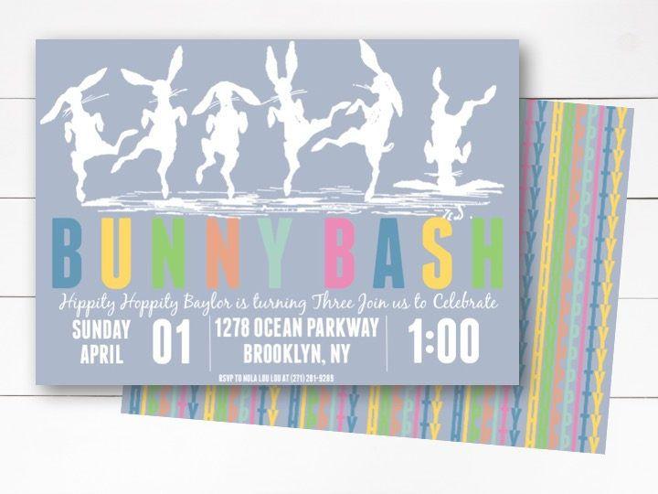 boy easter birthday invitation bunny bash birthday easter birthday