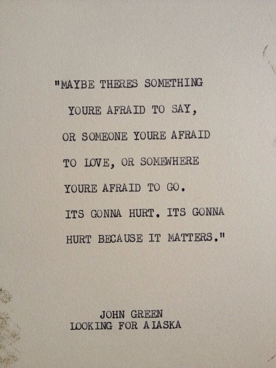 THE JOHN GREEN Typewriter quote on 5x7 cardstock by WritersWire, $6.00 ❤-tblazes.