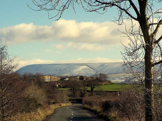 Pendle HIll from Clitheroe, Lancashire, England ...more ancestor homeland on mother's side