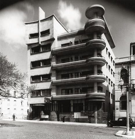 Hotel Victoria, Cassiano Branco, Avenida da Liberdade, Lisboa, 1936.