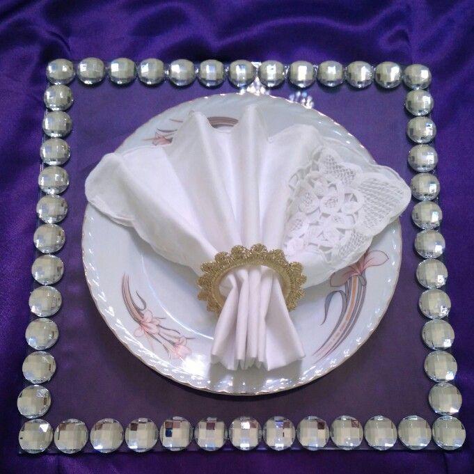 Taşlı cam supla peçete halkası sipariş alınır