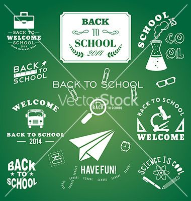 Back to school design elements retro style and vector by Dimasic50 on VectorStock®