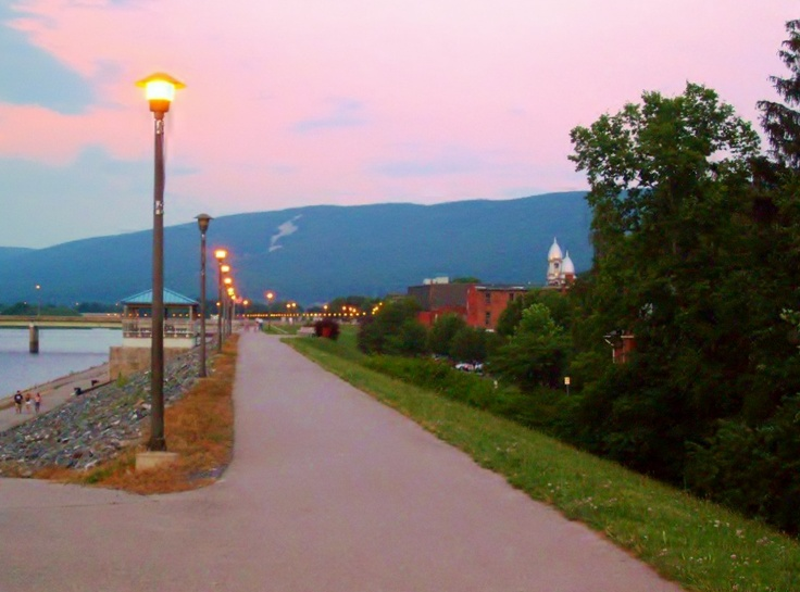 Along the river in Lock Haven, PA. College town. <3