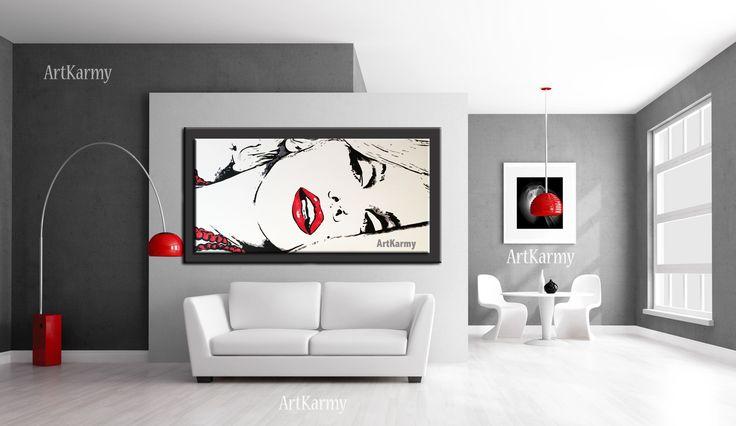 Per acquistare un quadro dipinto a mano con Marilyn: http://www.carmensenia.it/quadri-audrey-hepburn-e-marilyn/ Bianco e rosso – Ideale negli ambienti minimal è l'utilizzo di pochi colori, in questo caso un pavimento bianco e le pareti che giocano tra il bianco e il grigio. Abbiamo la però la presenza del colore rosso, che si impone prepotentemente in questo ambiente neutro, è proprio la presenza di questo unico colore rosso che spezza con tutto il resto a dare personalità.