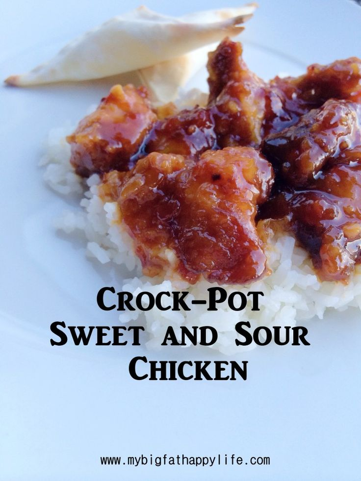 Crock-Pot Sweet and Sour Chicken | mybigfathappylife.com
