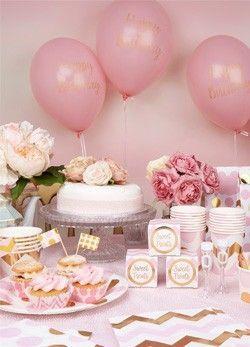 1 Geburtstag Mädchen Christening Baby Shower Deco 1st Birthday