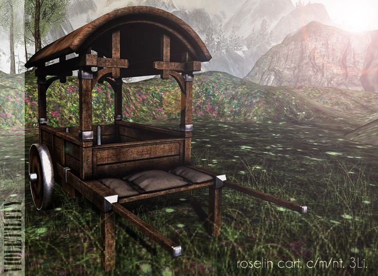 https://flic.kr/p/GW94gY | Violetility - Roselin Cart | New at The Fantasy Collective! The Roselin Cart is a 3Li original mesh decorative piece with materials!