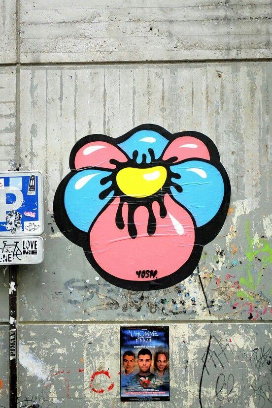 Yosh - street art - paris 4 rue st merri (juil 2013)