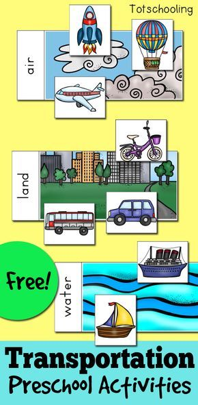 FREE Transportation activities for preschoolers featuring cars, trucks, trains, boats and other vehicles. Activities include matching, patterns, sorting by air, land, water, and sorting by syllables.
