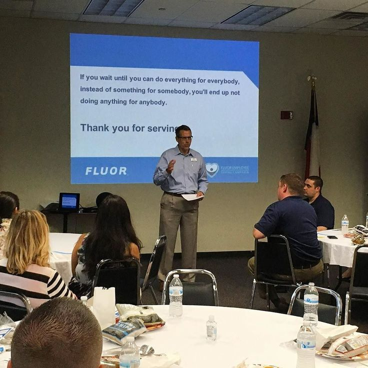 Last week we hosted #Fluor Corporation's @unitedwaydallas campaign training! It was SO inspiring to hear stories from our @imscidallas & @ymcadallas.schoolage programs! Thanks for supporting the work we do!  #YMCA #ForABetterUS