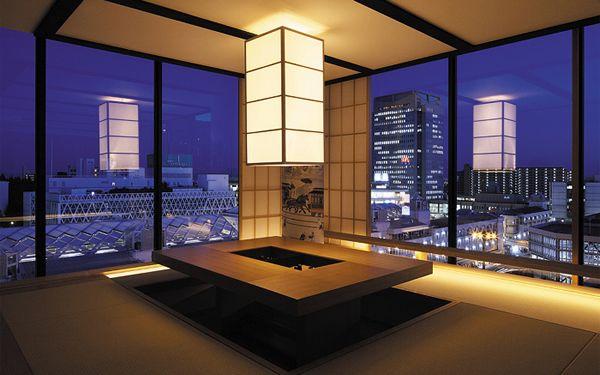 千里中央の家 高層マンションの一室をデザインリフォーム 障子を開けた様子