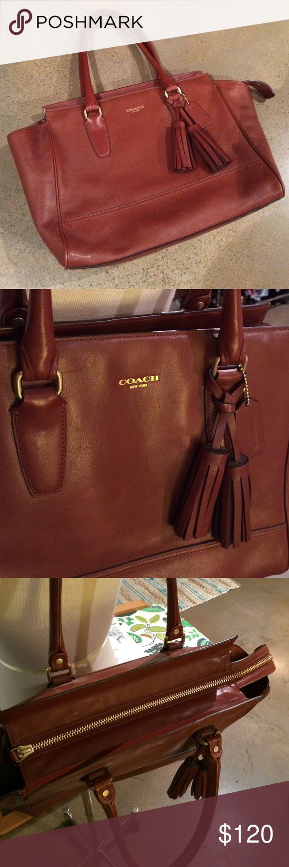 Coach Legacy Brown Carryall *Candace* - Like New! Like new condition! Barely used. No major scratches or marks. Interior of bag is clean. The perfect bag to carry to work and big enough to carry to school. Coach Legacy, Candace bag. Coach Bags Totes