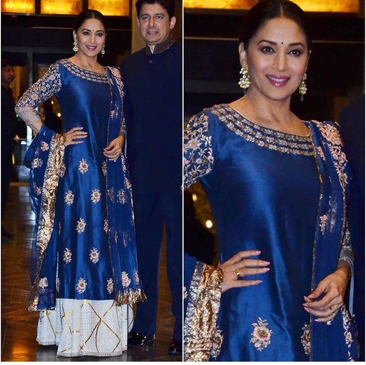 Madhuri Dixit # Anita Dongre # perfect evening look # Bollywood fashion
