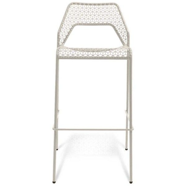 Heal's Hot Mesh Bar Stool - White ($277) ❤ liked on Polyvore featuring home, furniture, stools, barstools, modern barstools, outdoor counter height stools, white bar stools, outside bar stools and outdoor stools
