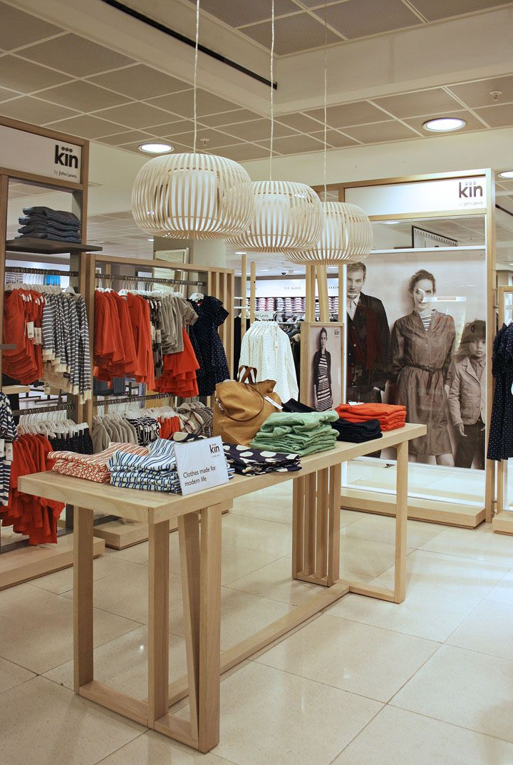 Retail Design | Shop Design | Fashion Store Interior Fashion Shops | Kin by John Lewis store by RFK Architects store design