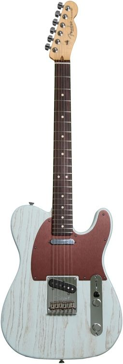 Fender FSR American Telecaster, Rustic Ash - Sonic Blue