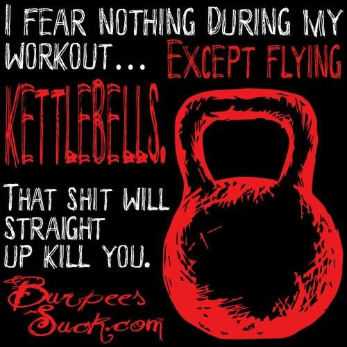 Haha...flying kettlebells
