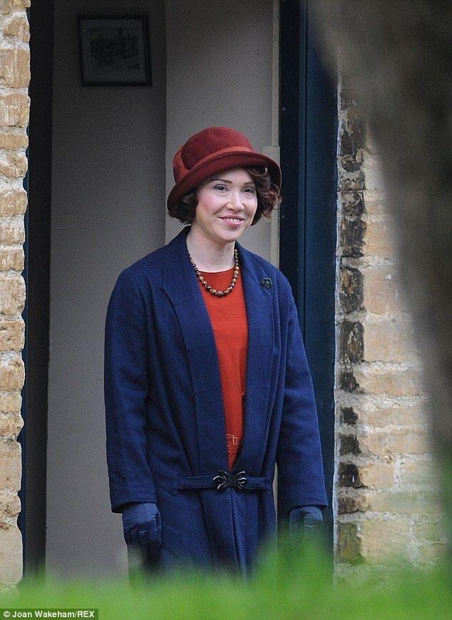 Daisy Lewis prepares to film her episode 5.5 goodbye scene opposite Allen Leech.