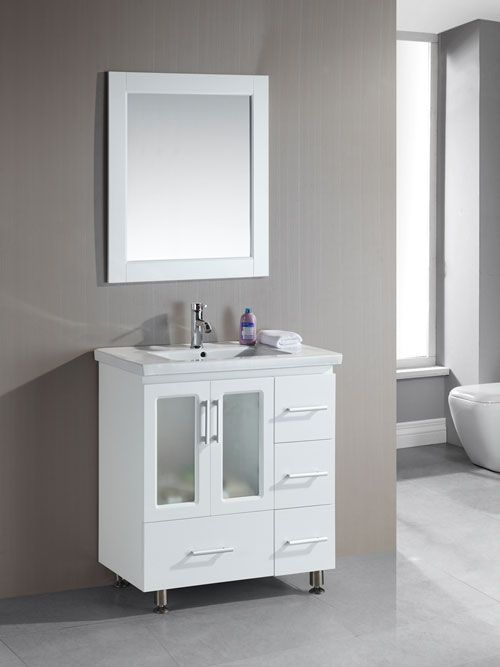 Awesome White Vanities For Small Bathrooms Part - 1: The Stanton White Vanity Is A Lovely White Vanity That Will Fit In Small  Bathrooms.