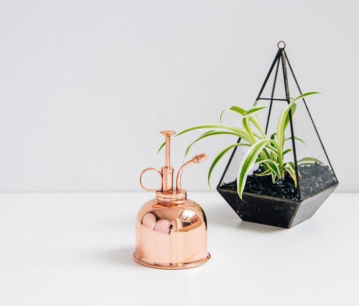 Brumisateur en cuivre vintage pour plantes d'intérieur - Échoppe Végétale