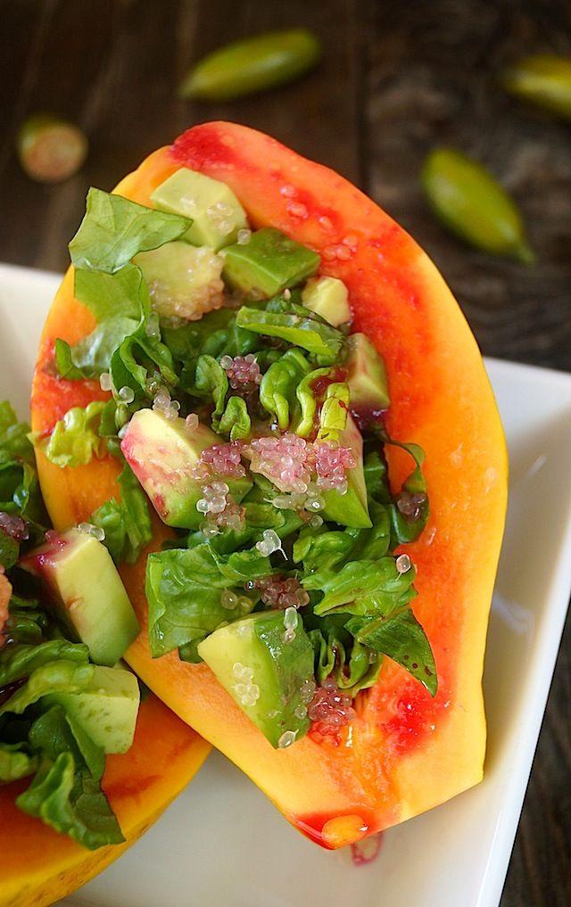 Papaya-Avocado Salad with Cactus Pear-Lemon Vinaigrette – weekend recipes