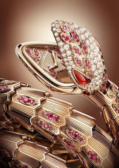 boys club the bulgari serpenti diamonds u0026 rubies on rose gold reveals the watchu0027s ruby adorned dial