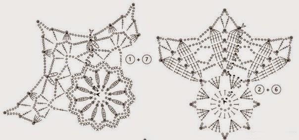 Copos de nieve Navideños tejidos a mano | Aprender manualidades es facilisimo.com