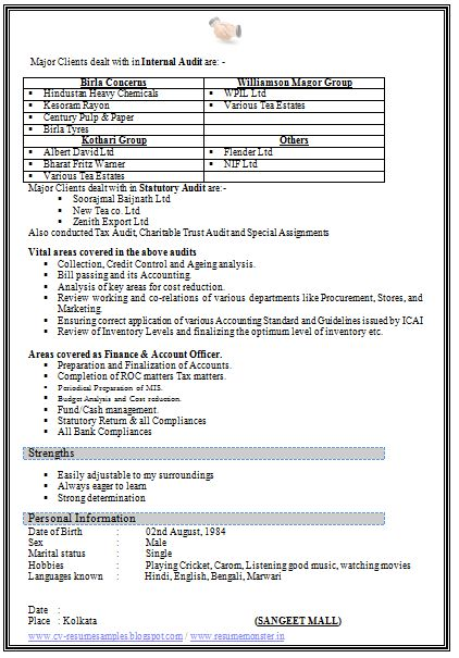 Resume Format Free Download (Page 2)