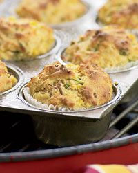 Grill-Roasted Bacon-and-Scallion Corn MuffinsBaconandscallion Corn, Grillroast Baconandscallion, Tailgating Recipe, Bacon And Scallion Corn, Grilled Food, Muffins Recipe, Grilled Recipe, Grilled Roasted, Corn Muffins