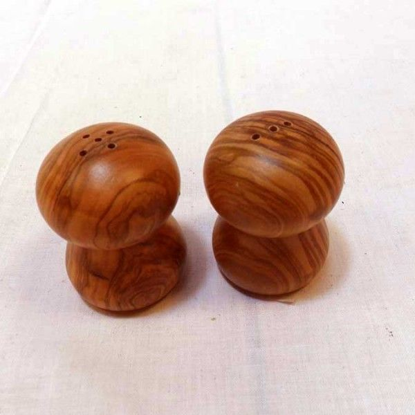 Salt _ Pepper Shaker Set Mushroom - solivewood.com