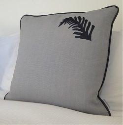 The Kiwi Cushion. Grey on Grey.