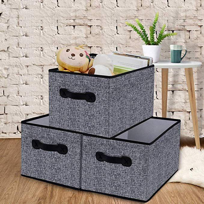 Amazon Com Homyfort Aufbewahrungsboxen Fur Stoffe Faltbare