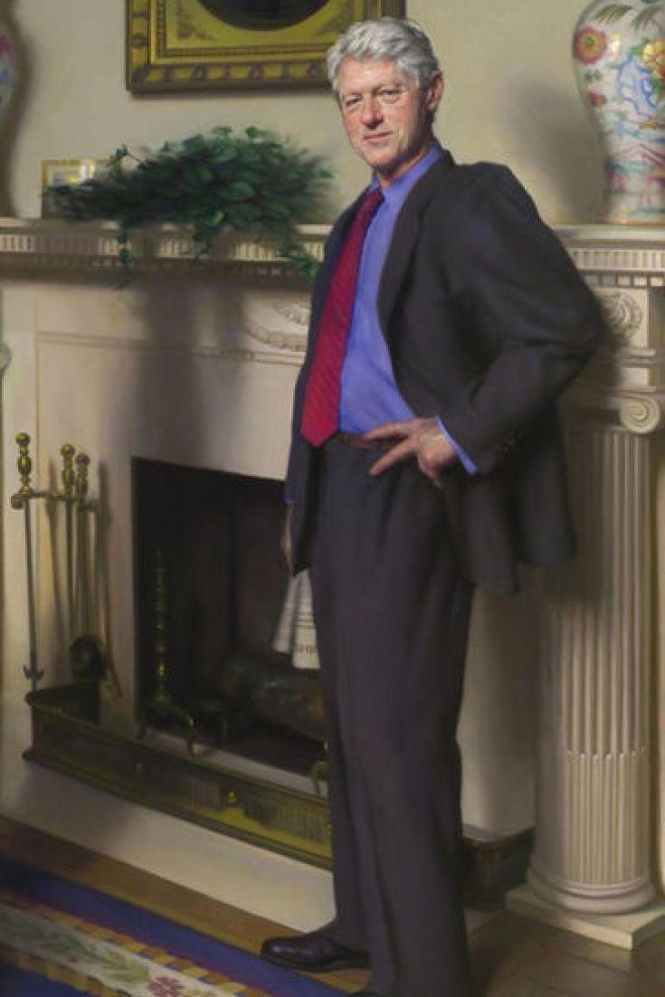 El retrato oficial de bill clinton inclu a sombras de m nica lewinsky