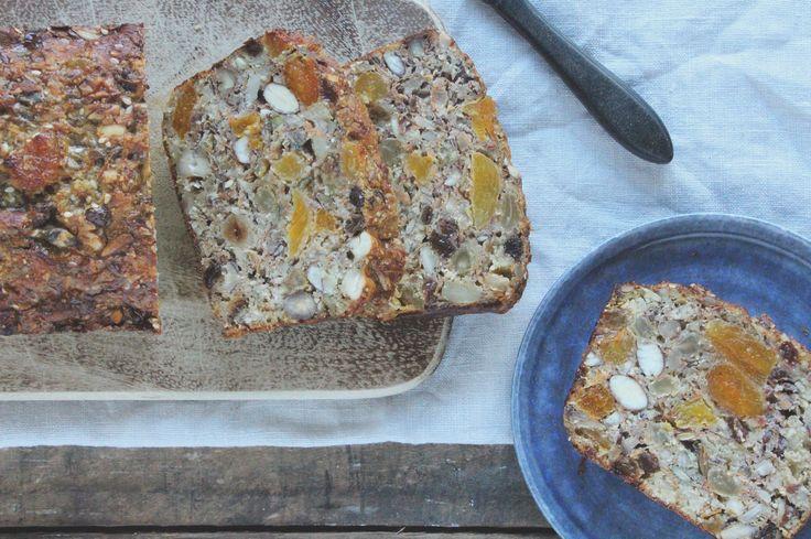 glutenvrij en suikervrij notenbrood