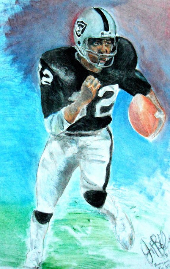 marcus allen raiders football card   Marcus Allen Raiders Painting