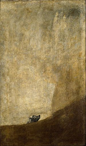Perro semihundido (1819-1823) por Goya.