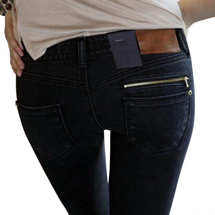 Jeans vrouw Van 2017 Nieuwe Vrouwelijke Potlood Broek Slanke Slanke Voeten Zwarte Jeans Broek Vrouwen Jeans Lange Broek