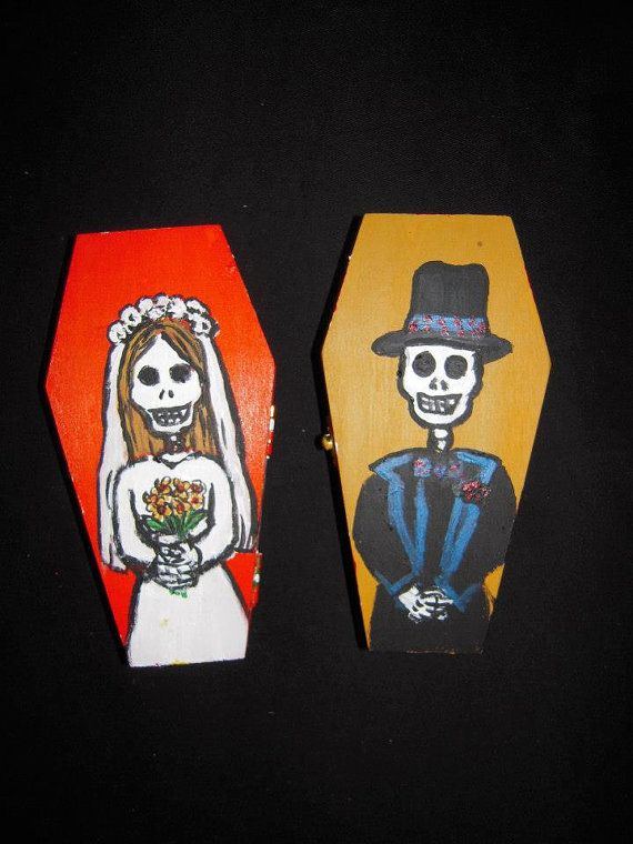 Coffin Wedding Cake Topper