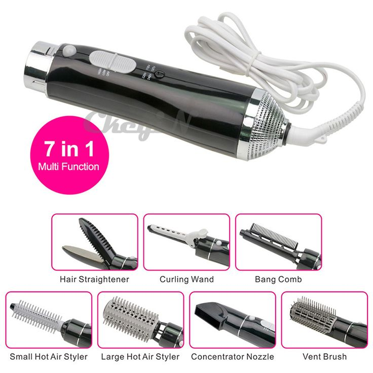7-in-1 Professional Styling Tool Electric Curler Hair Dryer Straightener Wand Curling Irons Roller Bursh Styler Curl HS13X53 alishoppbrasil