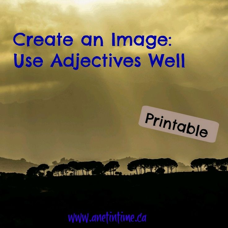 Do you like to write poetry? Have you considered how using adjectives paints an image for your readers to remember? Included is a printable to help learn this skill.