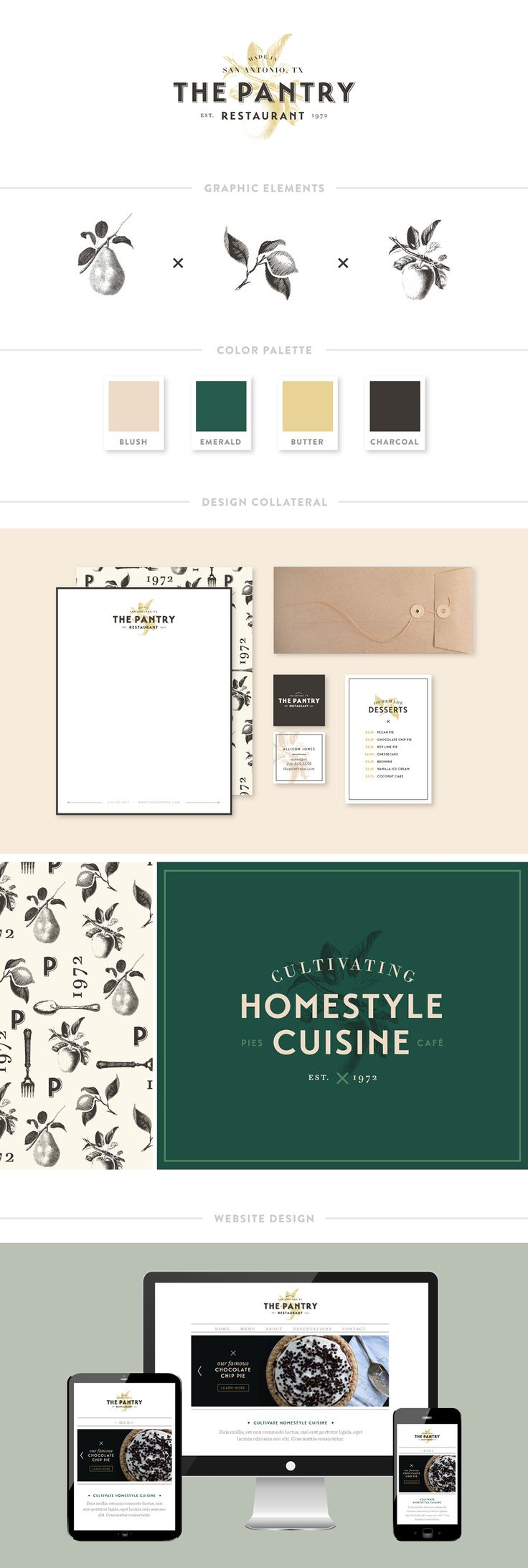 The Pantry Restaurant Branding