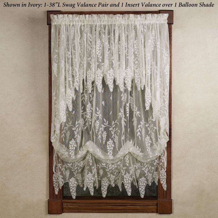 White Lace Swag Curtains | Wisteria Arbor Lace Valances And Curtain Panels