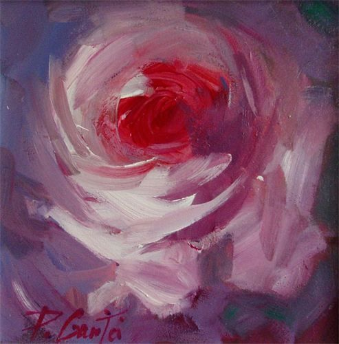 original floral paintings - Rose paintings