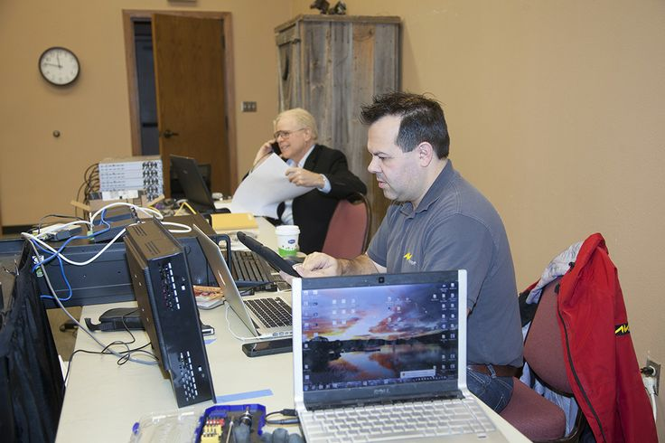 Kevin Zevchik, Project Manager with AVstumpfl, works on audio and visual components for our museum upgrades.
