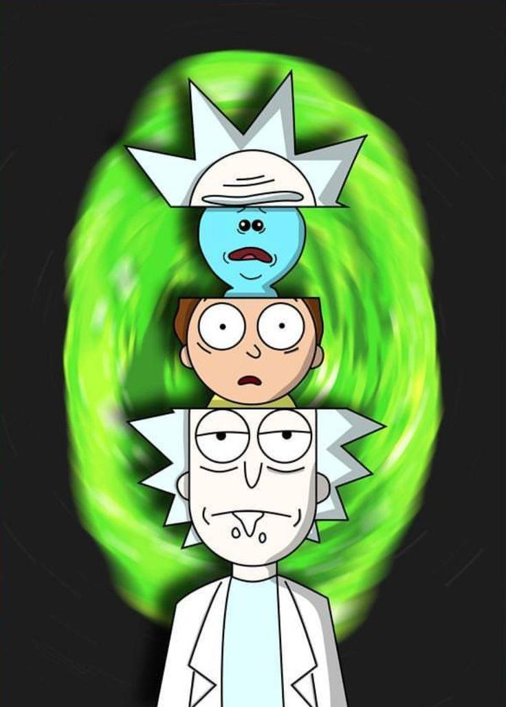 Portal And Rick Weed Morty