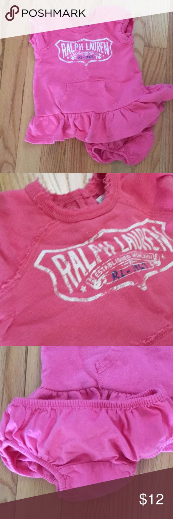 210 Ralph Lauren Baby Girl Dress Adorable Pink Not As Vibrant Pink As In Picture Dress Size