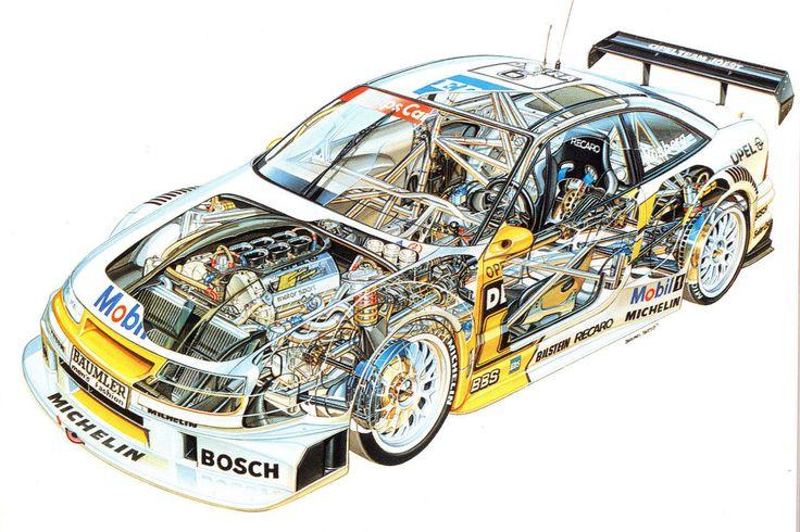 Opel Calibra DTM Race Car Cutaway Poster Print 24x36 | eBay
