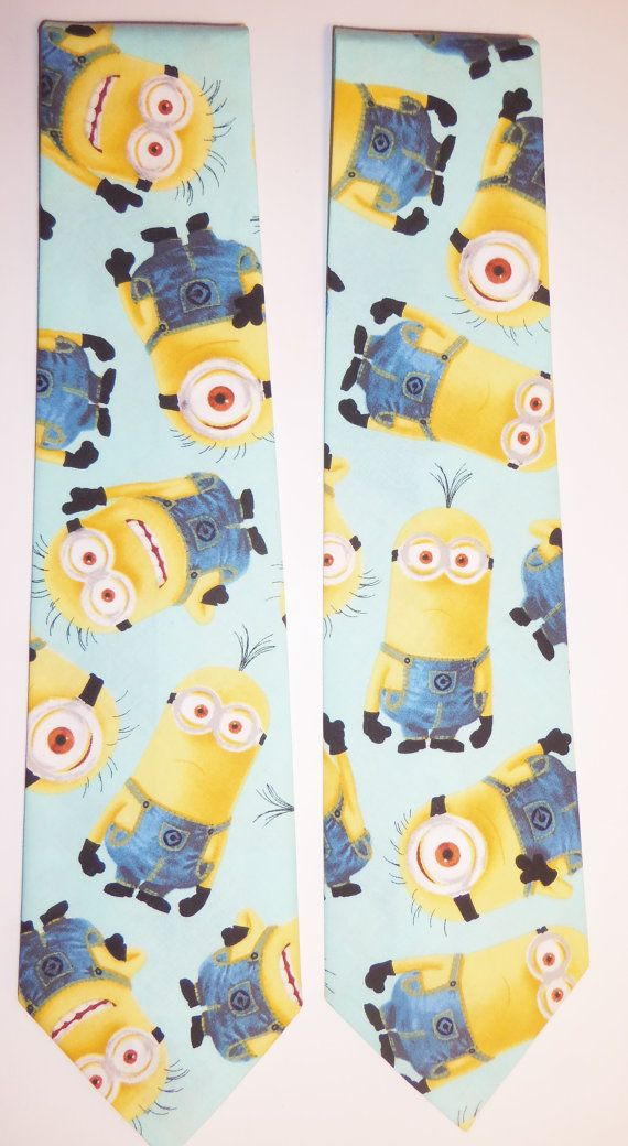 Minions Inspired Adult Necktie with Light Mint by CosplayMommas 2 available and ready to ship.