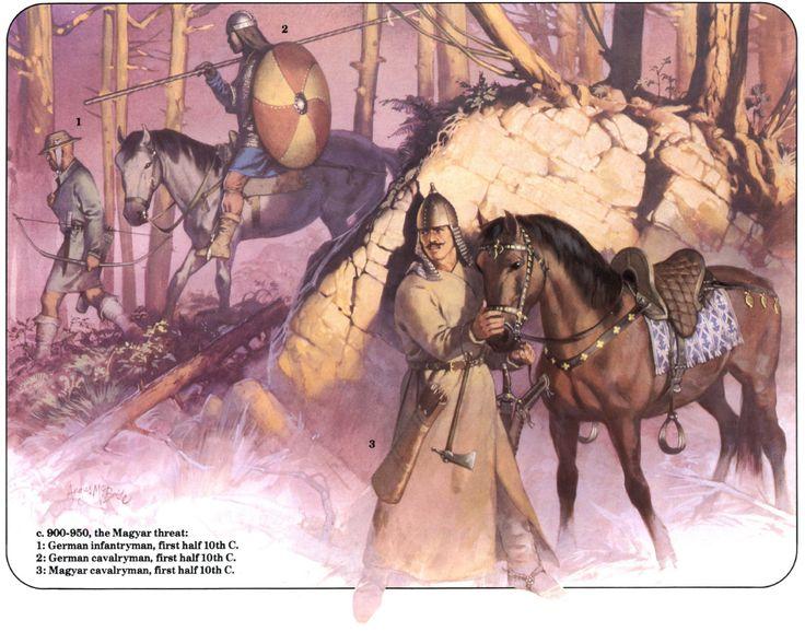 The Magyar warrior hiding under Franks, Angus McBride.