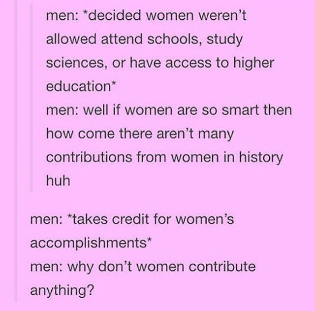 Heard this actual argument from an 86 year old male friend.